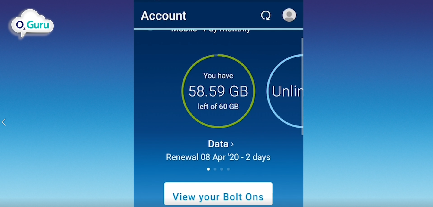 My O2 account