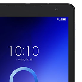 Alcatel 3T 10 tab view of the top of the tablet
