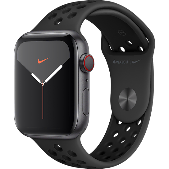 Apple Watch Series 5 Nike Sport Band - GPS and Cellular 44mm - Space Grey