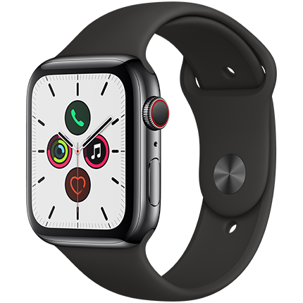 Apple Watch Series 5 Sport Band 44mm - GPS and Cellular Space Grey