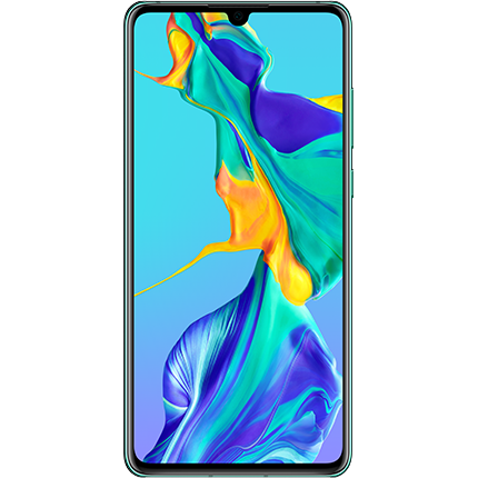 Huawei P30 Aurora, front of device