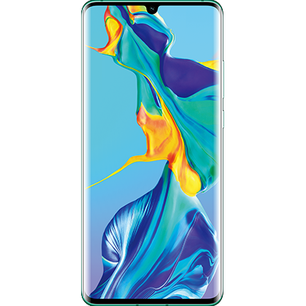 Huawei P30 Pro Aurora, front of device