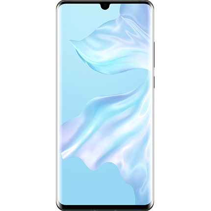 Huawei P30 Pro Black, front of device