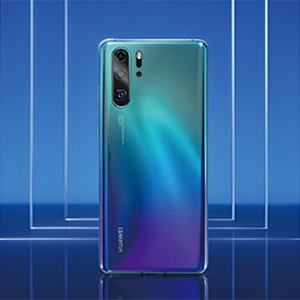 Huawei P30 Pro Aurora, back of device