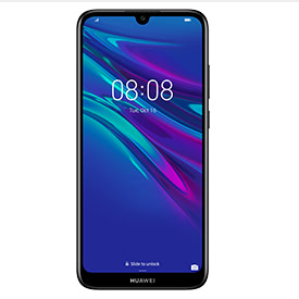 Huawei Y6 2019 Midnight Black, front of device