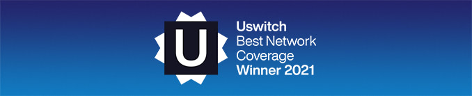 Uswitch Best Network Coverage Winner 2021