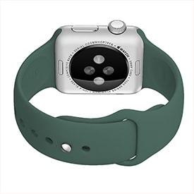 BeHello Silicone Strap for Apple Watch 42mm and 44mm Forest Green