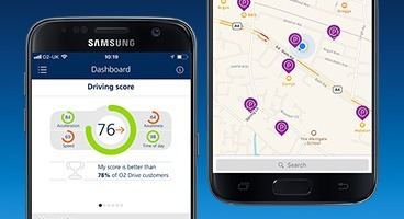 o2 drive app on screen