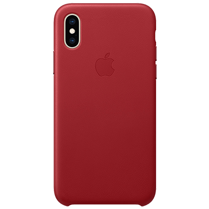 more photos b917b 019dd Apple iPhone X Leather Case (PRODUCT)RED - accessories from O2
