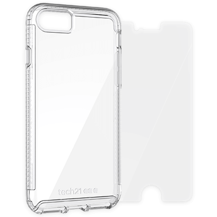 iPhone 8 and 7 Pure Clear Case and Screen Protector Bundle