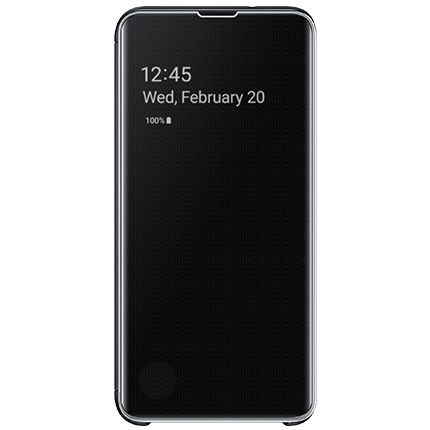 Galaxy S10e Original Clear View Cover Black