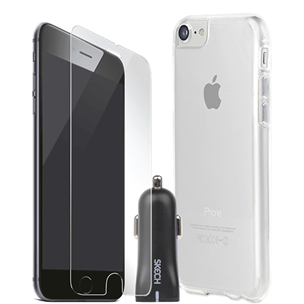 Skech iPhone 7 and 8 Crystal Bundle Pack accessories from