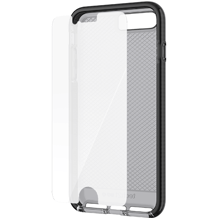 info for 72ffa 86610 iPhone 8 Plus and 7 Plus Evo Check Case and Screen Protector Bundle