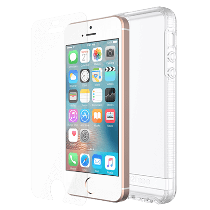 online retailer 1e0b3 143a9 Tech21 iPhone SE Impact Clear and Impact Shield Bundle Pack ...