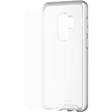 check out a2de5 a48cd Samsung S9 Plus Pure Clear Case and Screen Protector Bundle