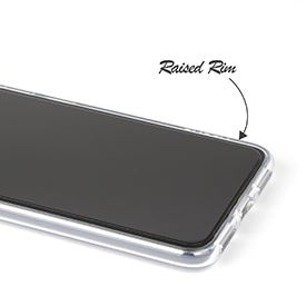 Raised edge for enhanced screen protection