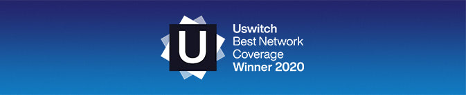 Uswitch Best Network Coverage Winner 2020