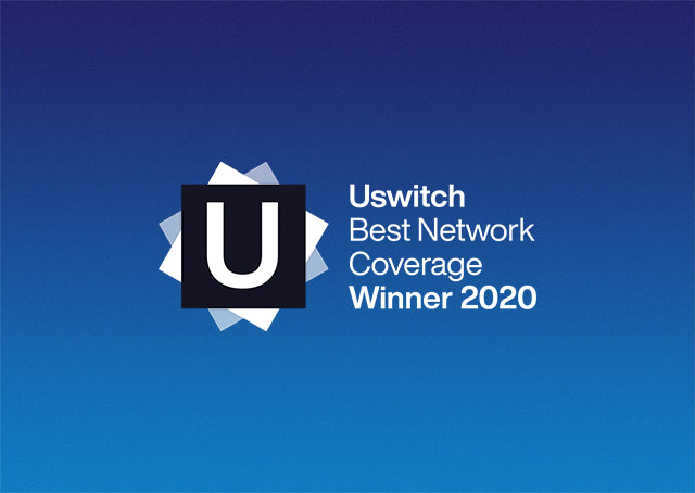 Uswitch Best Network for Coverage Winner 2020