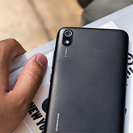 Xiaomi Redmi 7A cropped rear view lifestyle